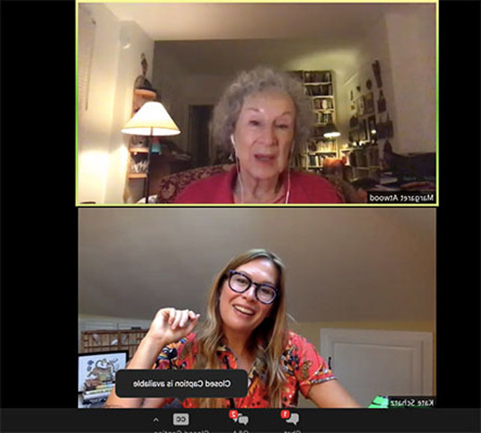Margaret Atwood and Kate Schatz on Zoom