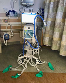 Ventilator with multiple breathing interfaces