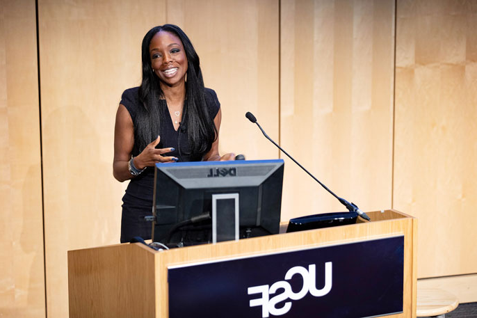 Nadine Burke Harris speaking at UCSF