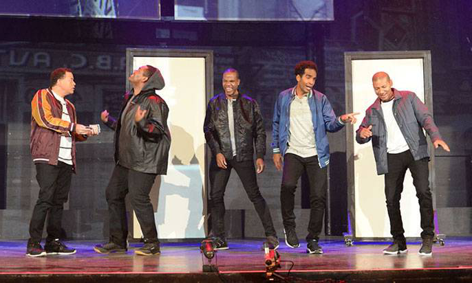 Actors performing in the Central Park Five