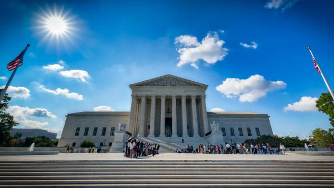 Supreme Court building blue sky