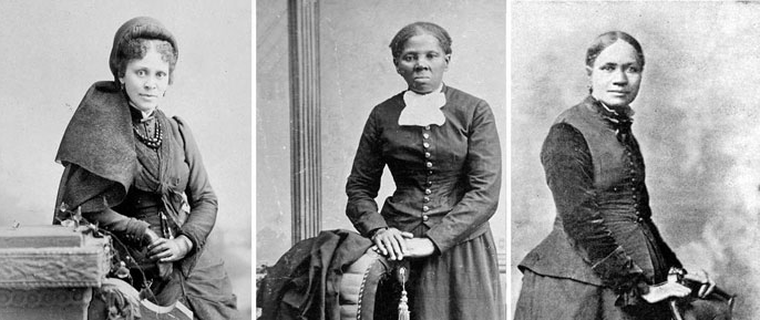 Frances E.W. Harper, Harriet Tubman and Hallie Quinn Brown